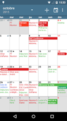 aCalendar interface