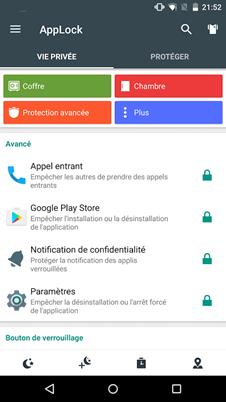 AppLock vie privée