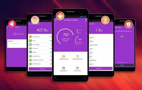 une des applications de nettoyage Android