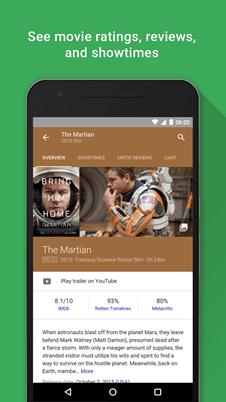 Google Assistant filmes