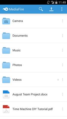 MediaFire fichiers