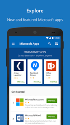 Microsoft Apps explorer