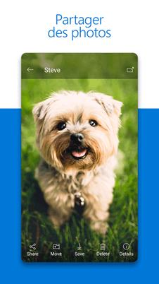 Microsoft OneDrive partage des photos