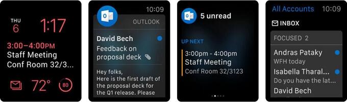 Microsoft Outlook sur Apple Watch