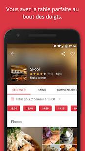 OpenTable : Réservations