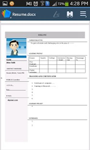 Resume Pro pour Android