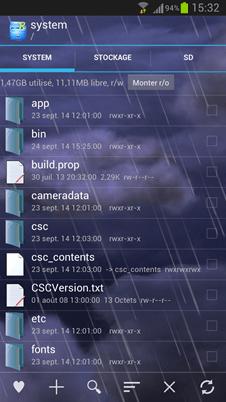 Explorer / Root Explorer système