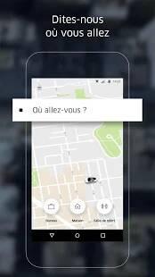 Uber - commander un véhicule avec chauffeur en quelques minutes